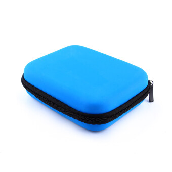 Harga Zip-up USB EVA Carry Case Pouch Bag For 2.5'' HDD Hard Drive DiskPC GPS jk(Blue)