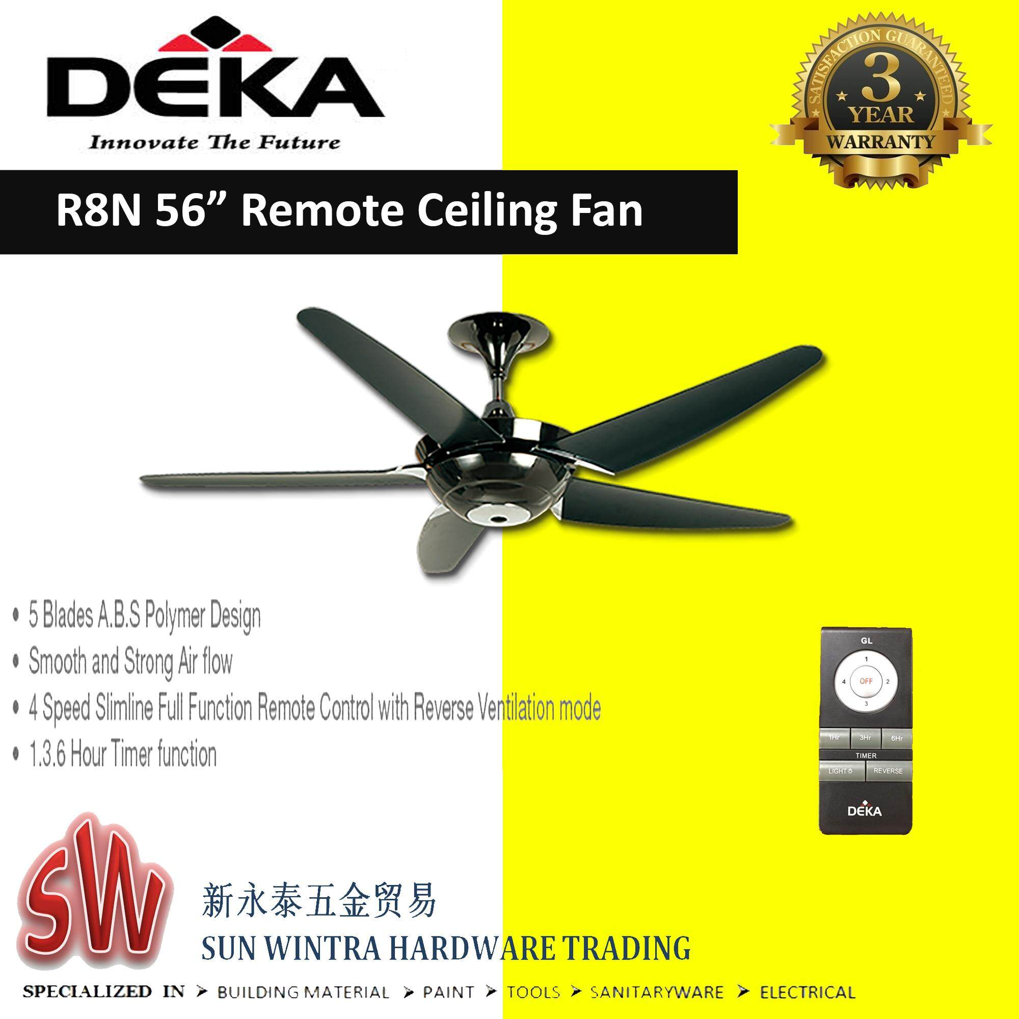 "DEKA 56"" Remote Ceiling Fan (8speed-FR/RR)"