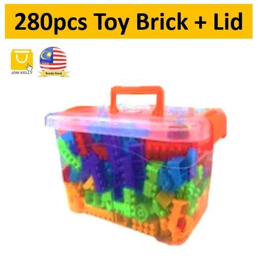 Toy Brick Building Block With Box+Lid
