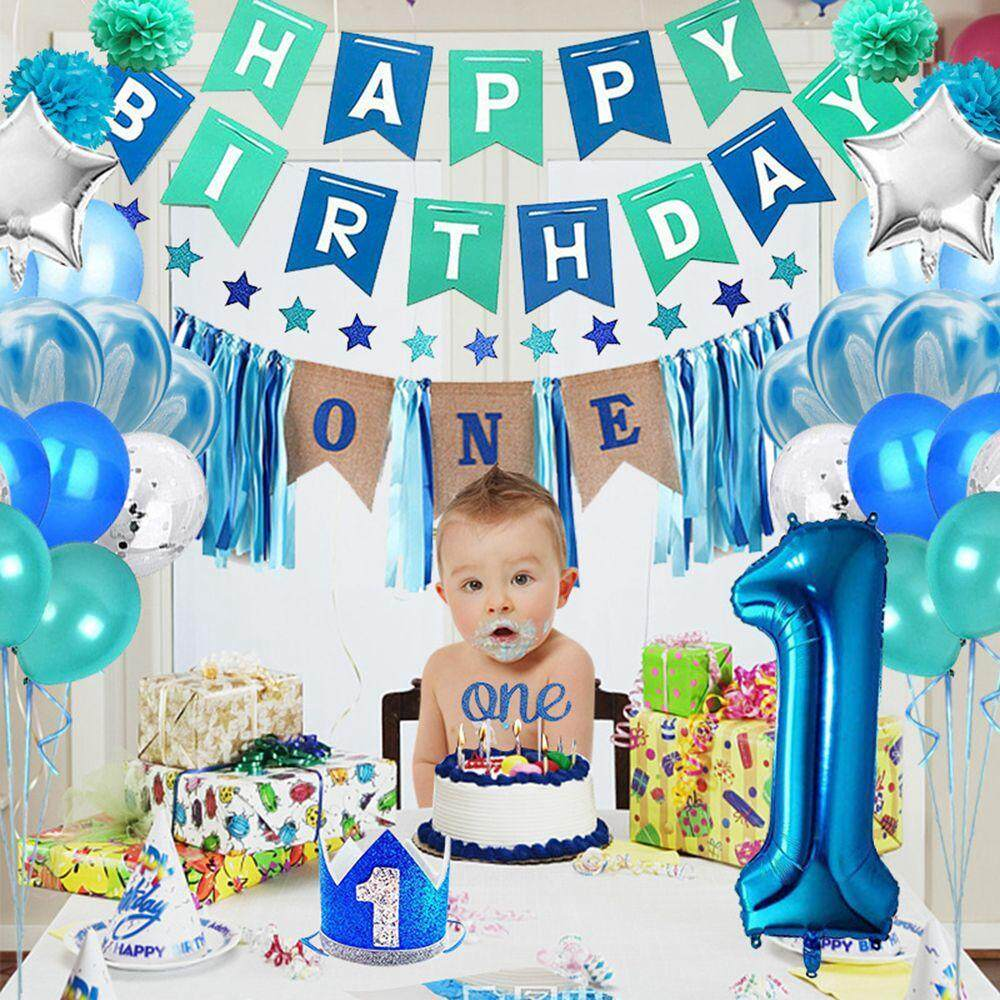Specifications Of CZS 1 Year Old Boy Birthday Party Decoration Set