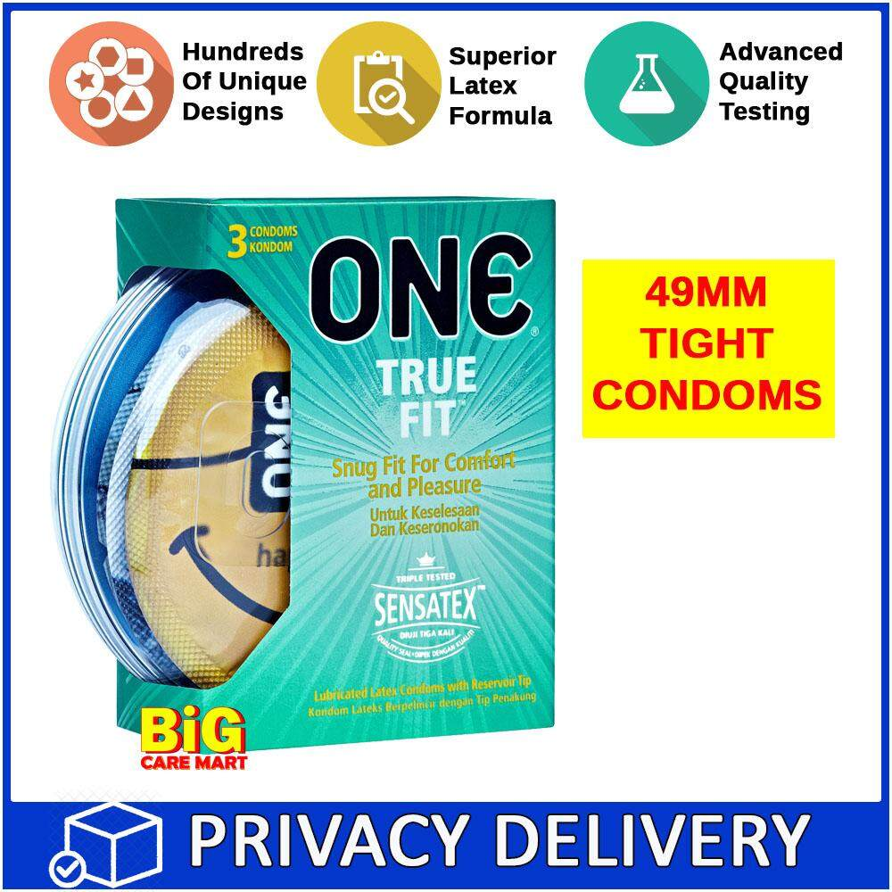 One True Fit Tight Fitting Condoms 3 pieces 49mm