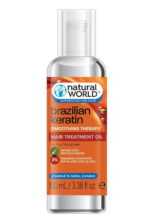 [ iiMONO ] Natural World Brazilian Keratin Smoothing Therapy Hair Treatment Oil 100ml