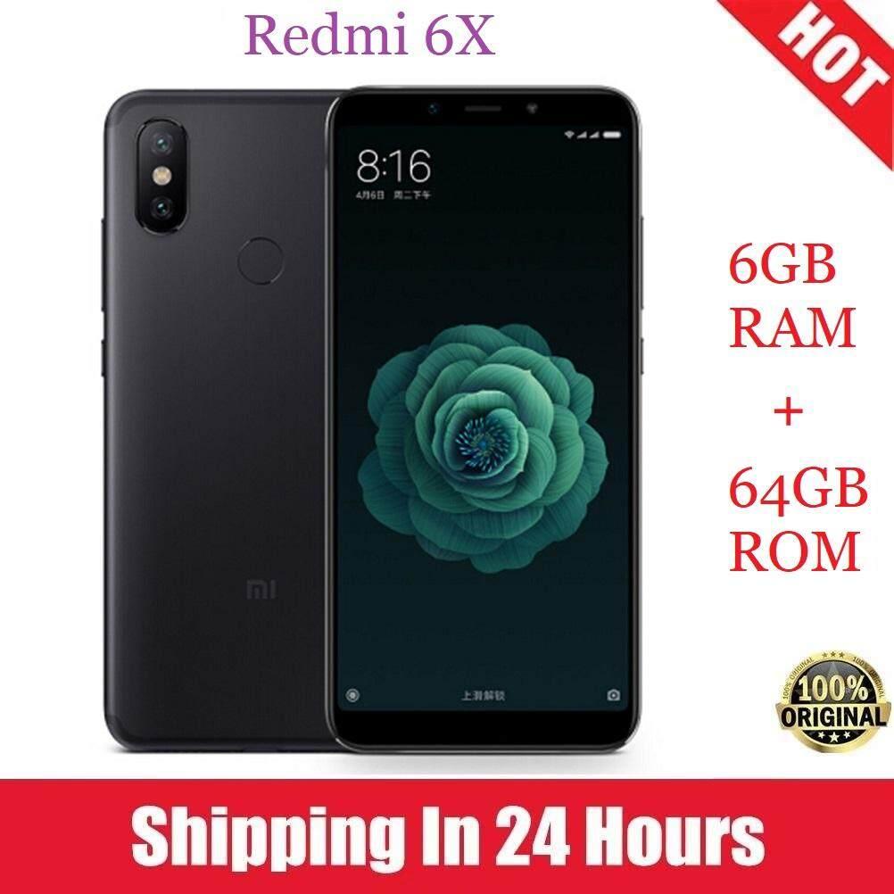 ชุมพร ต้นฉบับใหม่ Xiaomi Redmi 6X6 GB RAM 64 กิ๊กกะไบต์รอมสมาร์ทโฟน 5.99 นิ้ว