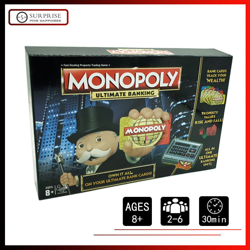 【Ready Stock】Board Game Monopoly Ultimate Banking English Edition