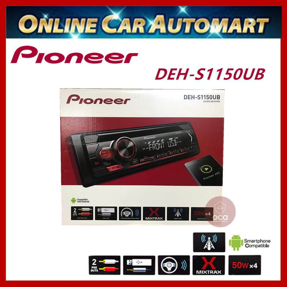 Pioneer Car CD/MP3 With USB Port Player Android/Smartphone/Aux In/Amp 1 Rca Pre-Out (Deh-S1150Ub)