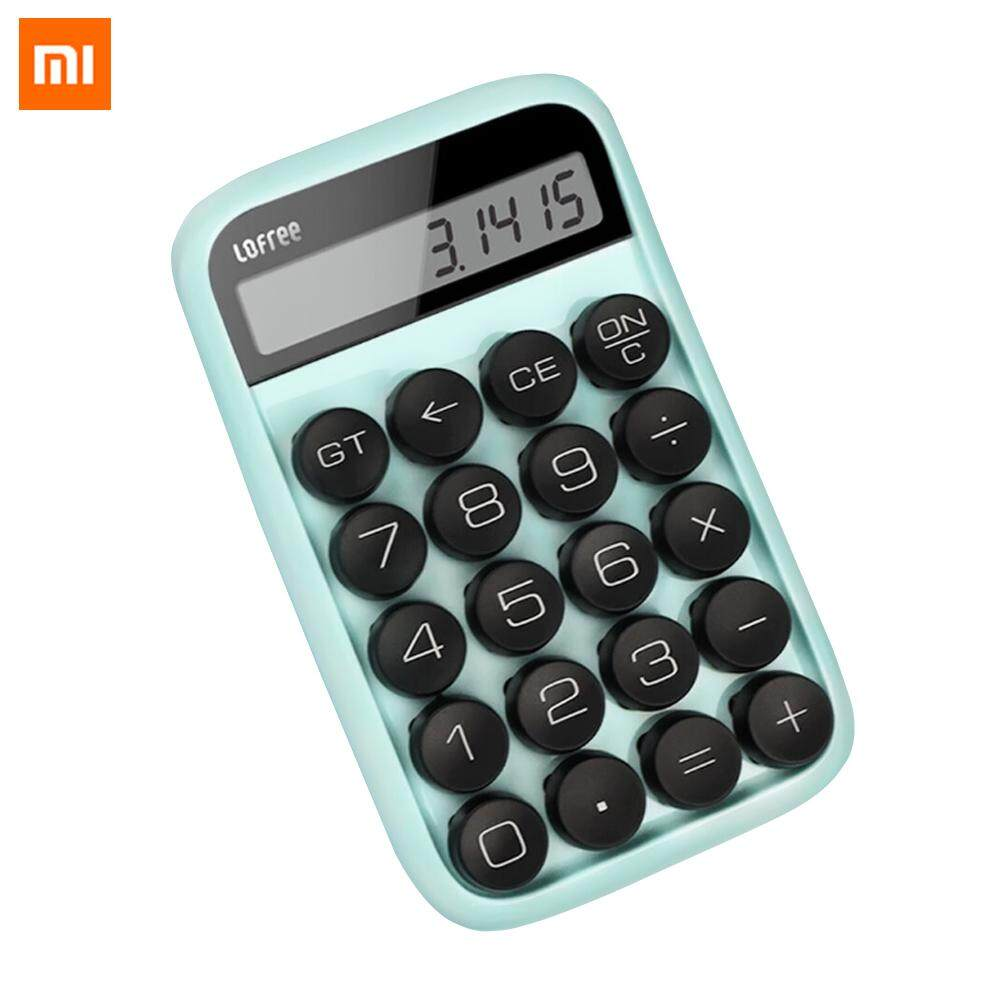 ยี่ห้อนี้ดีไหม  ภูเก็ต Xiaomi Mijia 3 Colors Lofree Calculator Vintage Decompressed Detachable Computer Keycap Intelligent Shutdown Portable Multifunctional Digital LCD Calculator for Mathematics Teaching Student Office Calculation