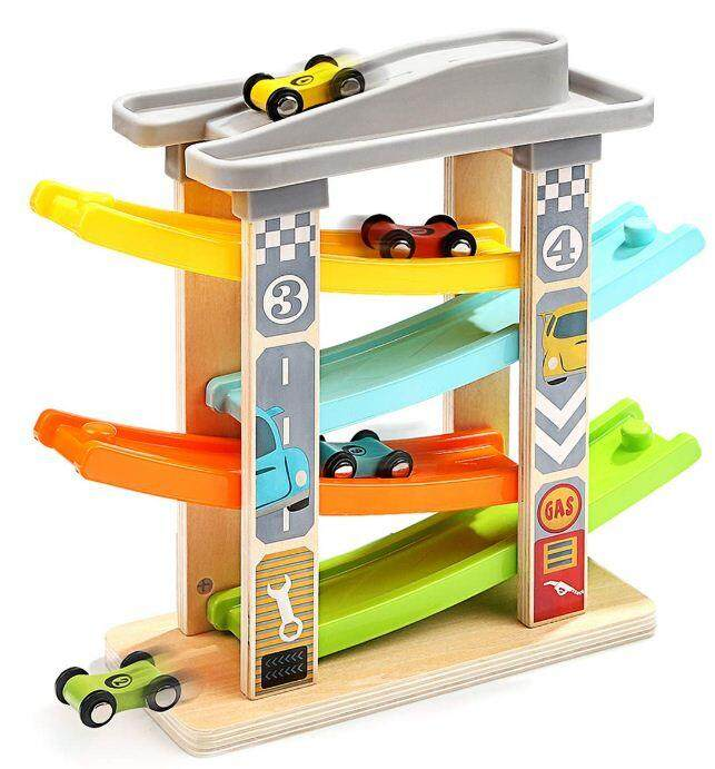 [All4kids] Top Bright Wooden Ramp Racer playset