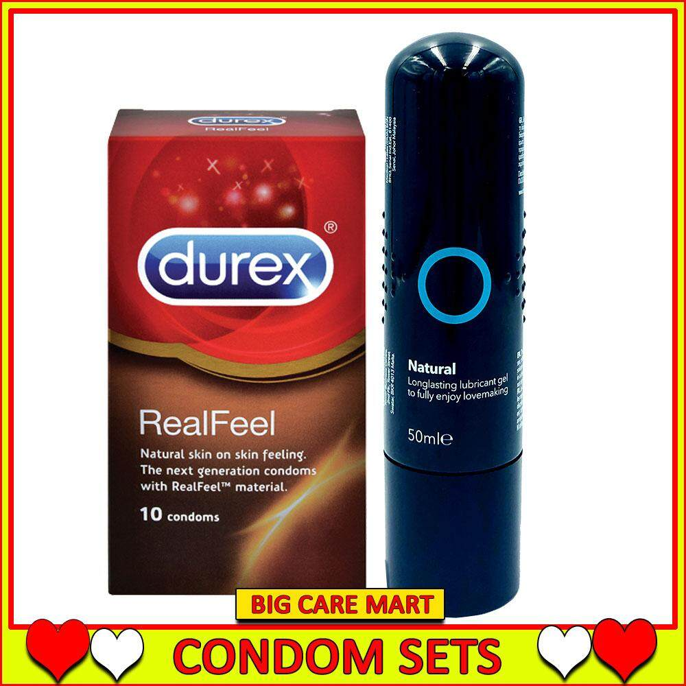 Durex Real Feel Non Latex Condoms 10s + Natural Lubricant 50ml