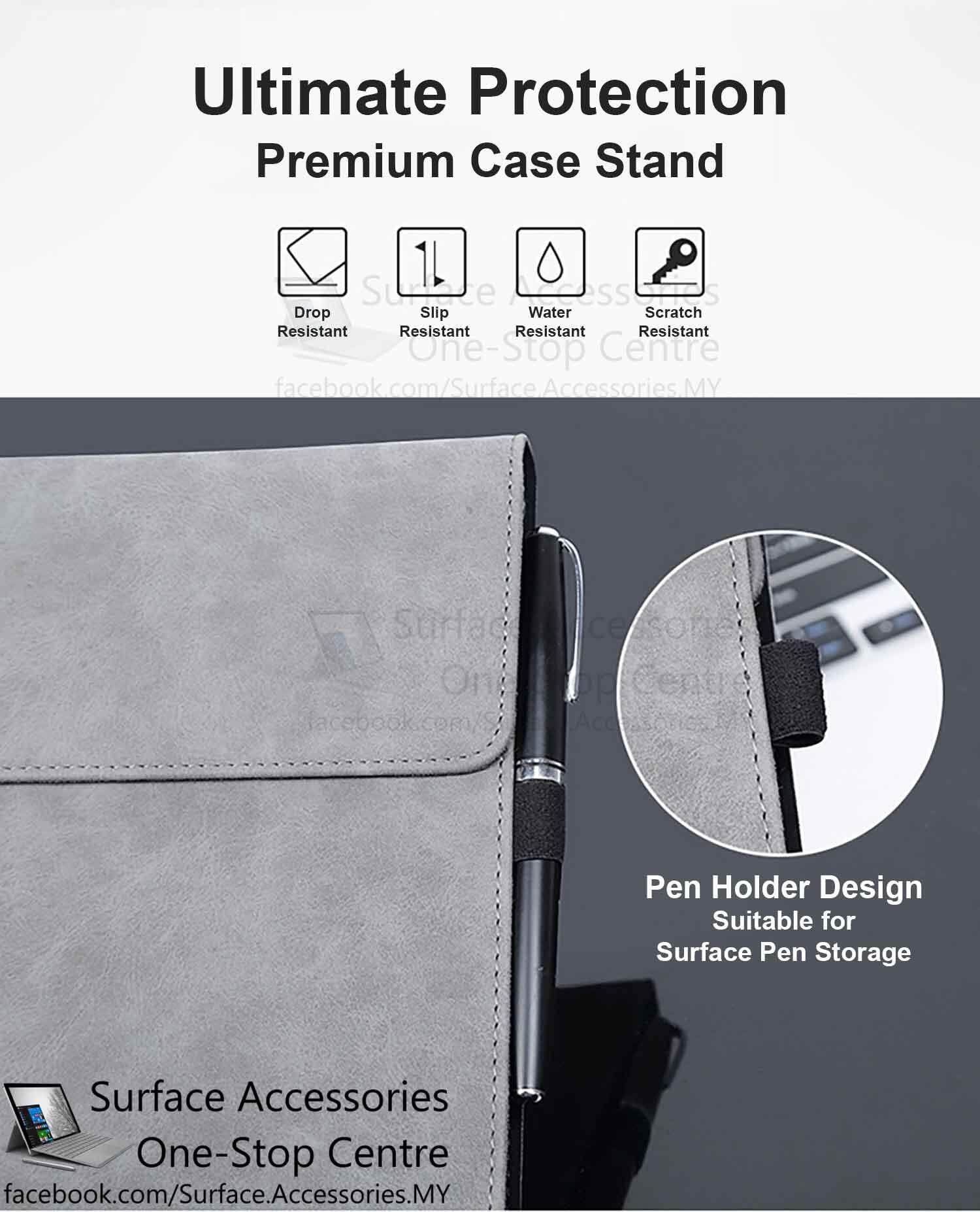[MALAYSIA]Microsoft Surface Pro 4 Casing Cover Premium Ultimate Case Stand Flip Case Microsoft Surface Pro 4 Cover Case Stand