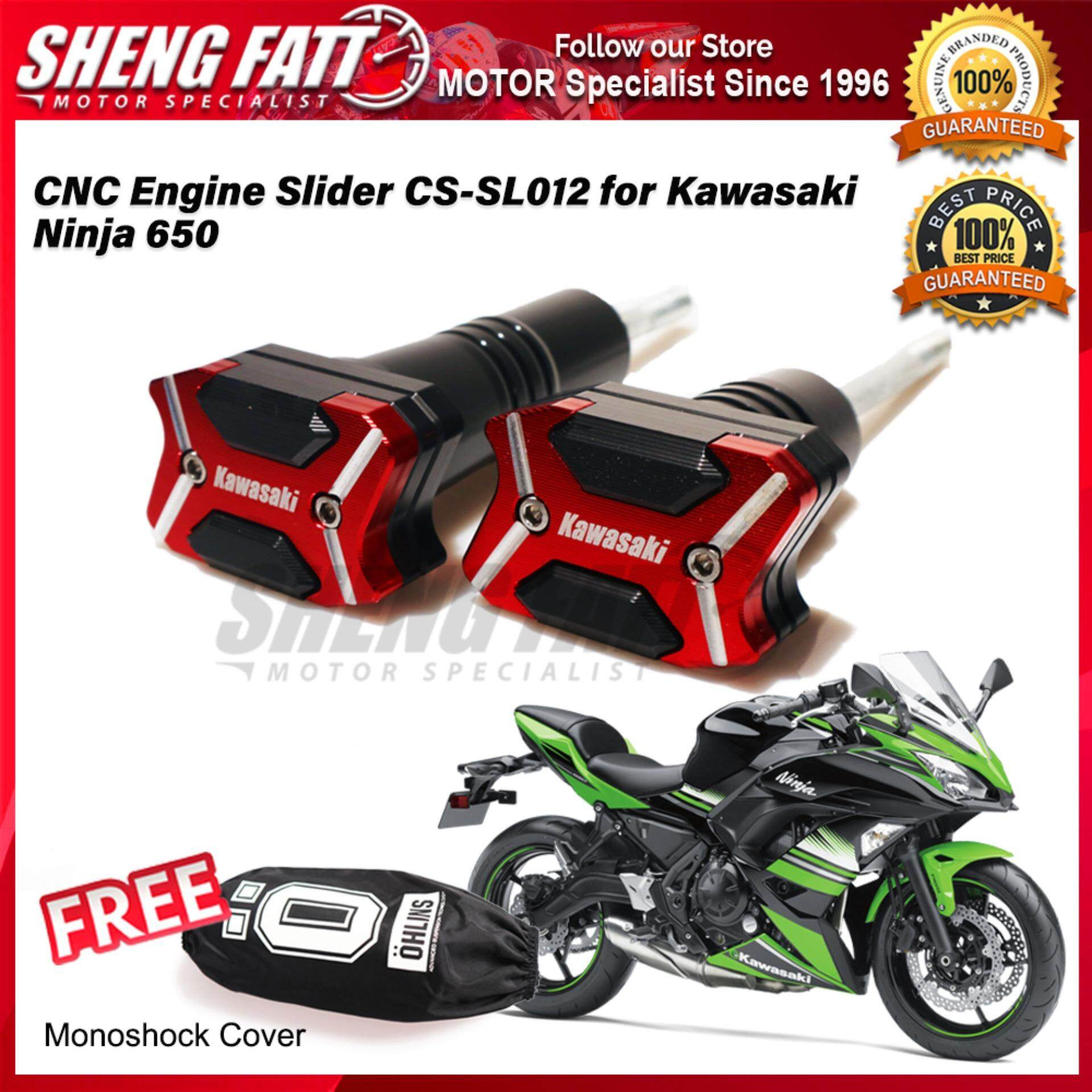 CNC Engine Slider CS-SL012 for Kawasaki Ninja 650 FREE Mono Shock Monoshock Cover