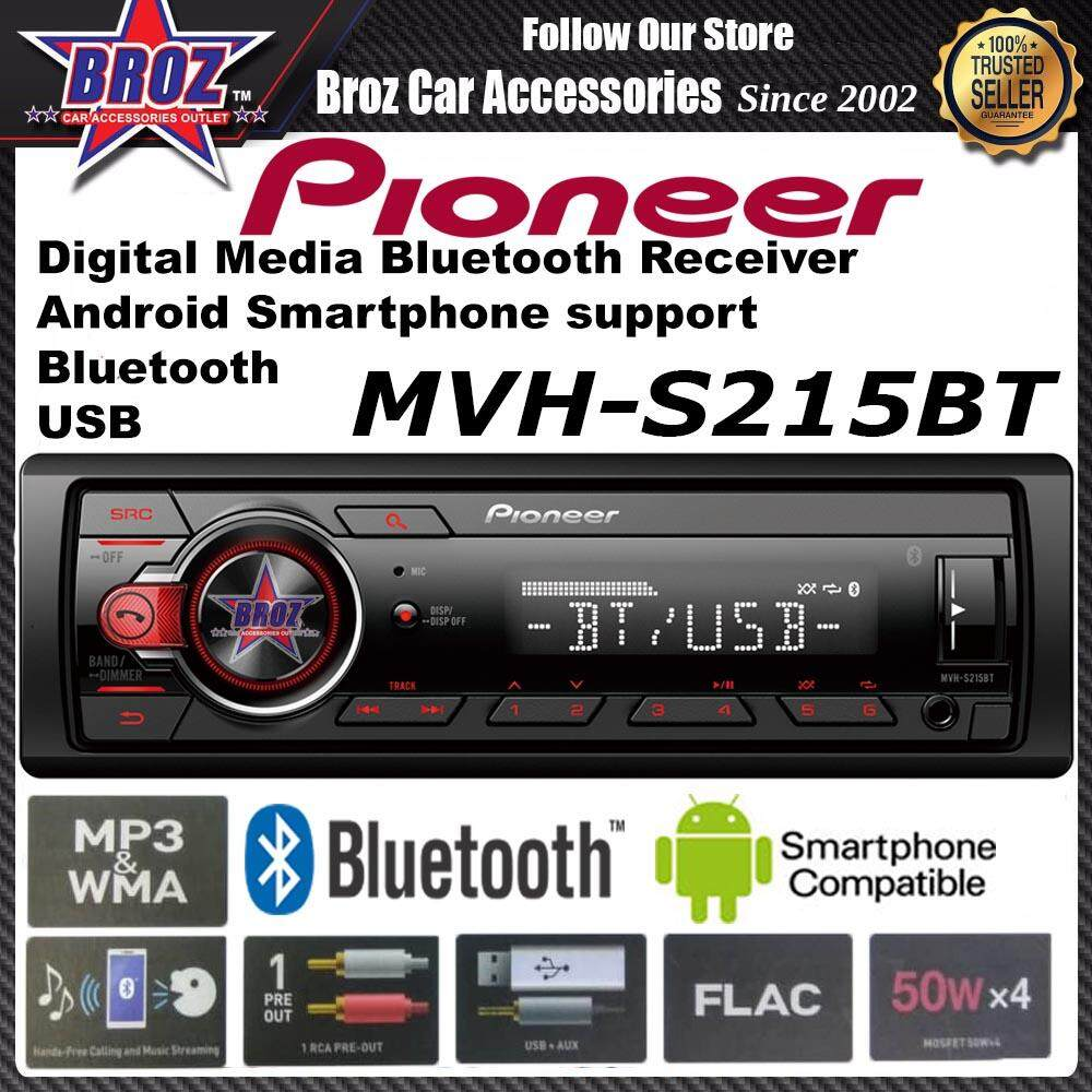 PIONEER MVH-S215BT DIGITAL MEDIA WITH BLUETOOTH,USB & COMPATIBLE WITH ANDROID