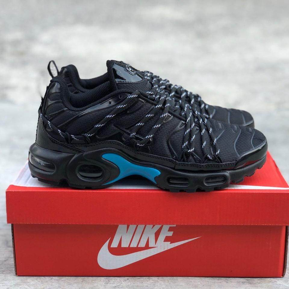 pretty nice 26b37 0af12  READYSTOCK  NIKE AIRMAX PLUS DRAKE CUSTOM BLACK BLUE  40-44 EURO