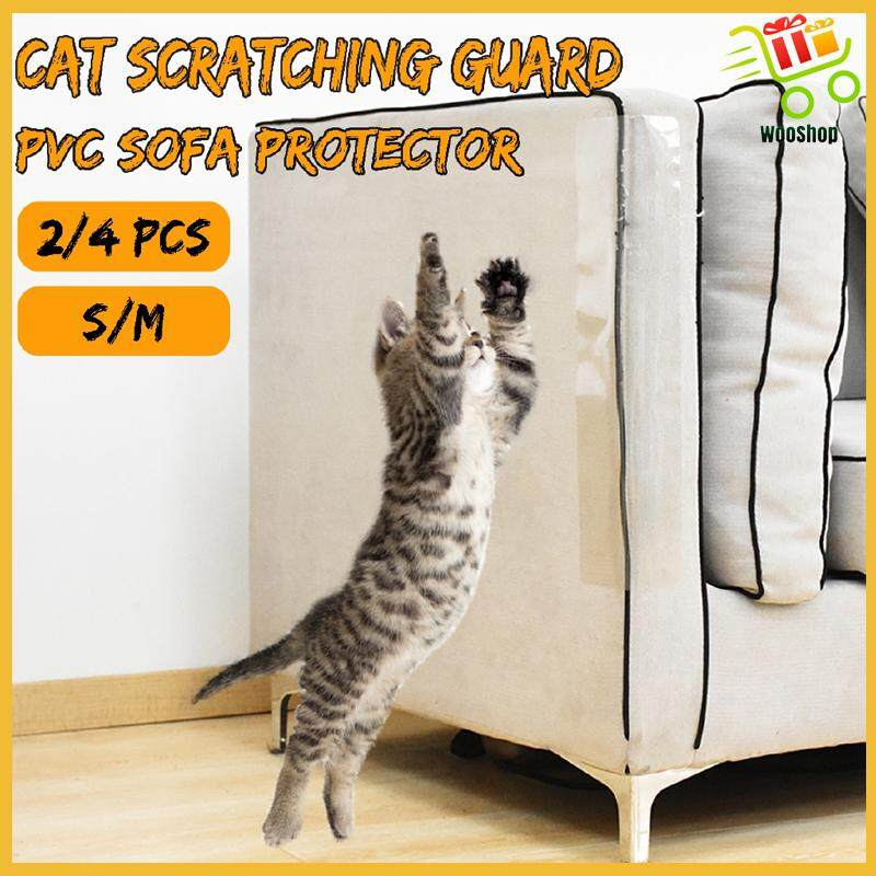 2/4 PIECE(s) PVC Cat Scratching Guard Sofa Furniture Protector Cover Self Adhesive - M-2 TABLETS / S-4 TABLETS / M-4 TABLETS / S-2 TABLETS