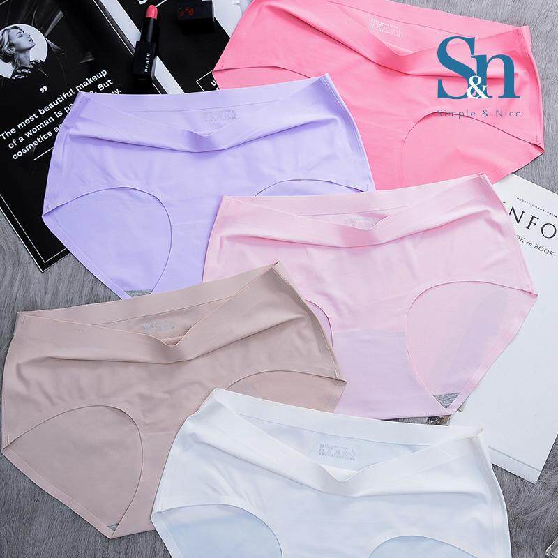【8 Pcs Korean Premium Underwear】SIMPLE & NICE Women/Female/Girls Standard Plain Design Panties Underwear Inside Wear Set (M-XL) Direct From Factory