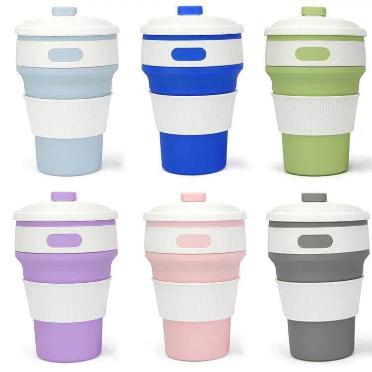 350ml Silicone Collapsible Coffee Cup Portable Teacup Water Cups Mug for Indoor Outdoor