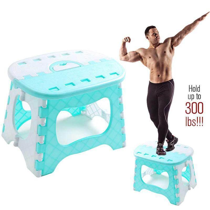 เช่าเก้าอี้ กรุงเทพ BuyInBulk เก้าอี้พับพลาสติกสำหรับเด็ก  Super Strong ขนาดเล็กเก้าอี้  เก้าอี้ครัว  น้ำหนักเบา Garden สตูล  holdup ถึง 300 ปอนด์  ความต้านทานการลื่นไถลและเปิดด้วย One Flip