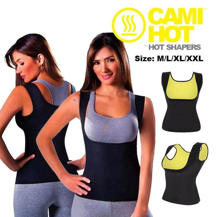 【BLACK SIZE L】Genie Bra Cami Tank Top Women Body Shaper Removable Shaper Underwear Slimming Vest Corset Slimming Camisole Dint