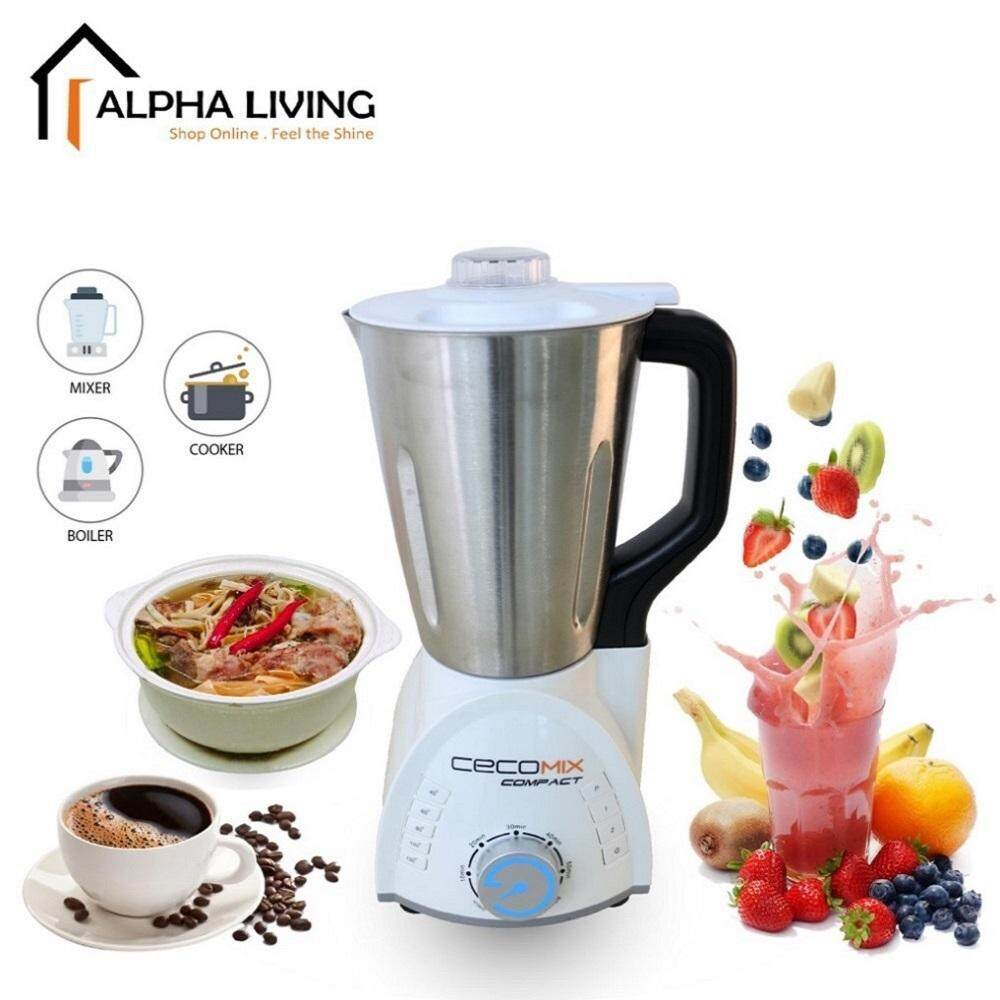 Cecomix Compact KEA0117 12 in 1 Soup Master Multi Function Smoothie and Cook Soup Maker Blender 1.7L Capacity 1250W Power