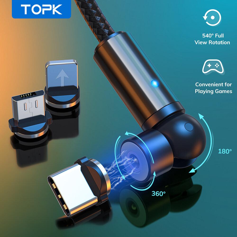 kabel charger magnetic micro usb-1 m cepat magnetis pengisian daya mikro usb magnet kabel charger kain type c kabel data untuk xiaomi samsung huawei redmi oppo vivo