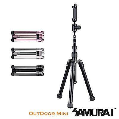 Samurai Outdoor Mini 3-in-1 Lightweight Tripod Free smartphone adapter