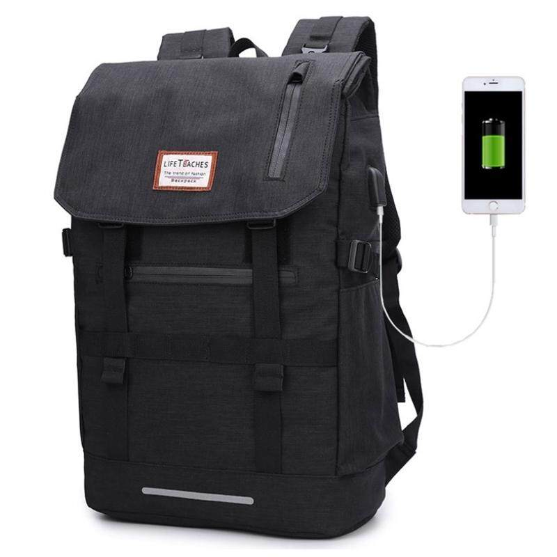 TEEMI Roll Top USB Travel Backpack Large Capacity Backpack