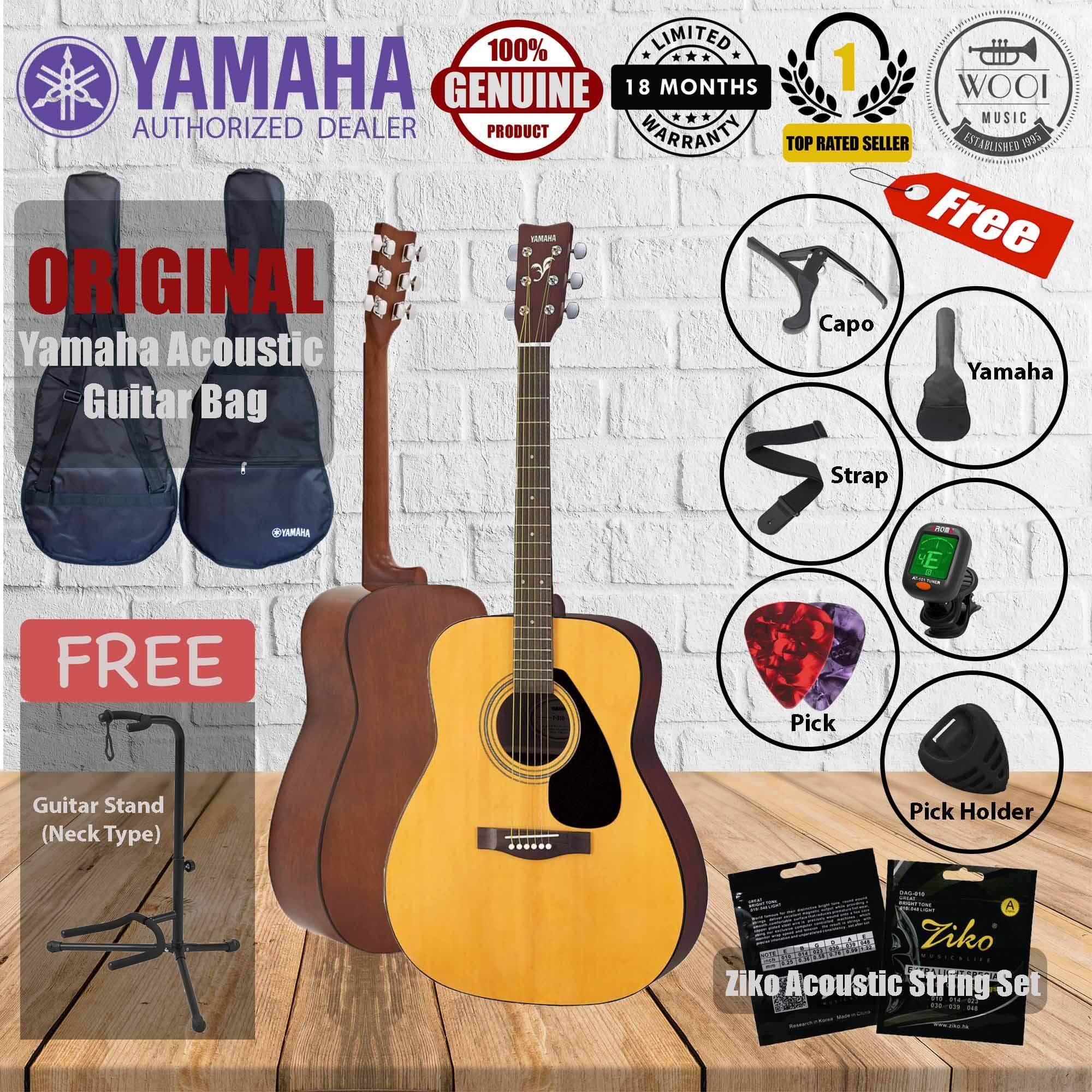 "Yamaha F310 Acoustic Guitar 41""(F-310) (FREE Yamaha bag, Tuner, Capo, Strap, Pick x 2, Ziko Strings, Pick Holder,  GS002 Neck type guitar stand)"