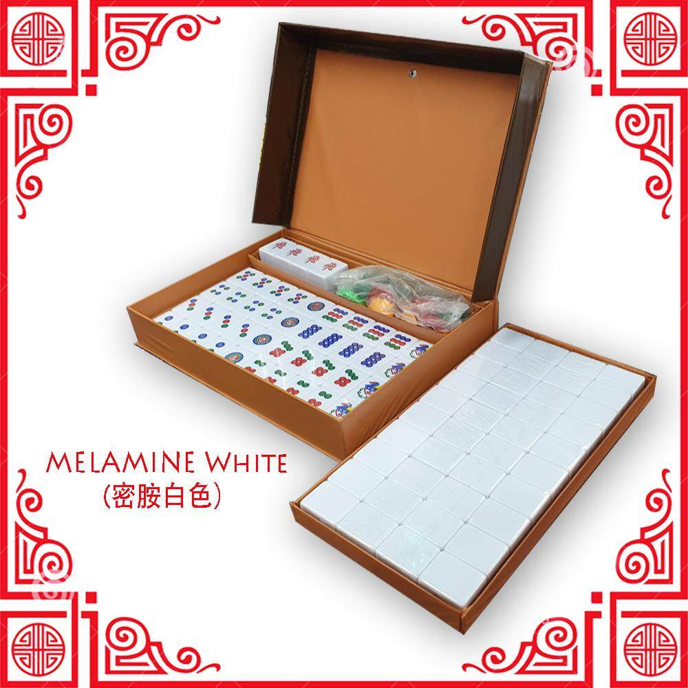 [Ready Stock] 3 Player Mahjong Melamine White [Fast Delivery]