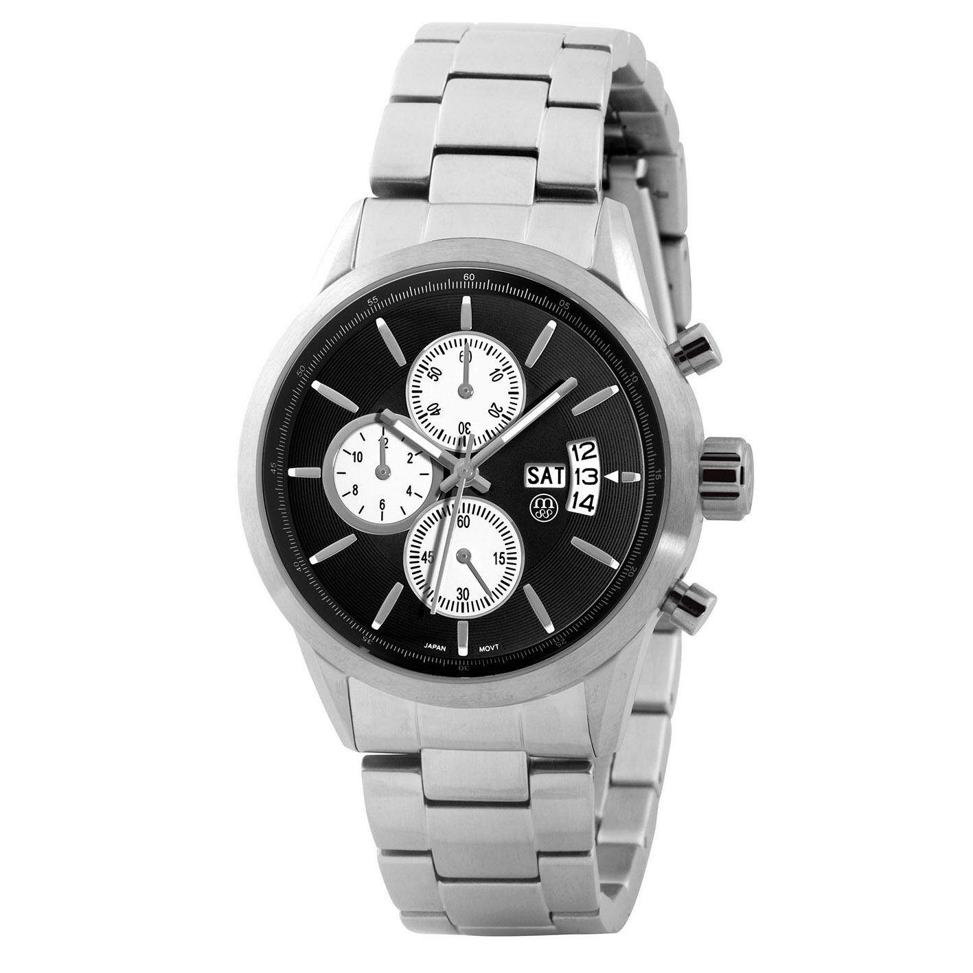 MASSA COLLECTIONS NOBLER Stainless Steel Sapphire Glass Chronograph Steel Strap Unisex Watch
