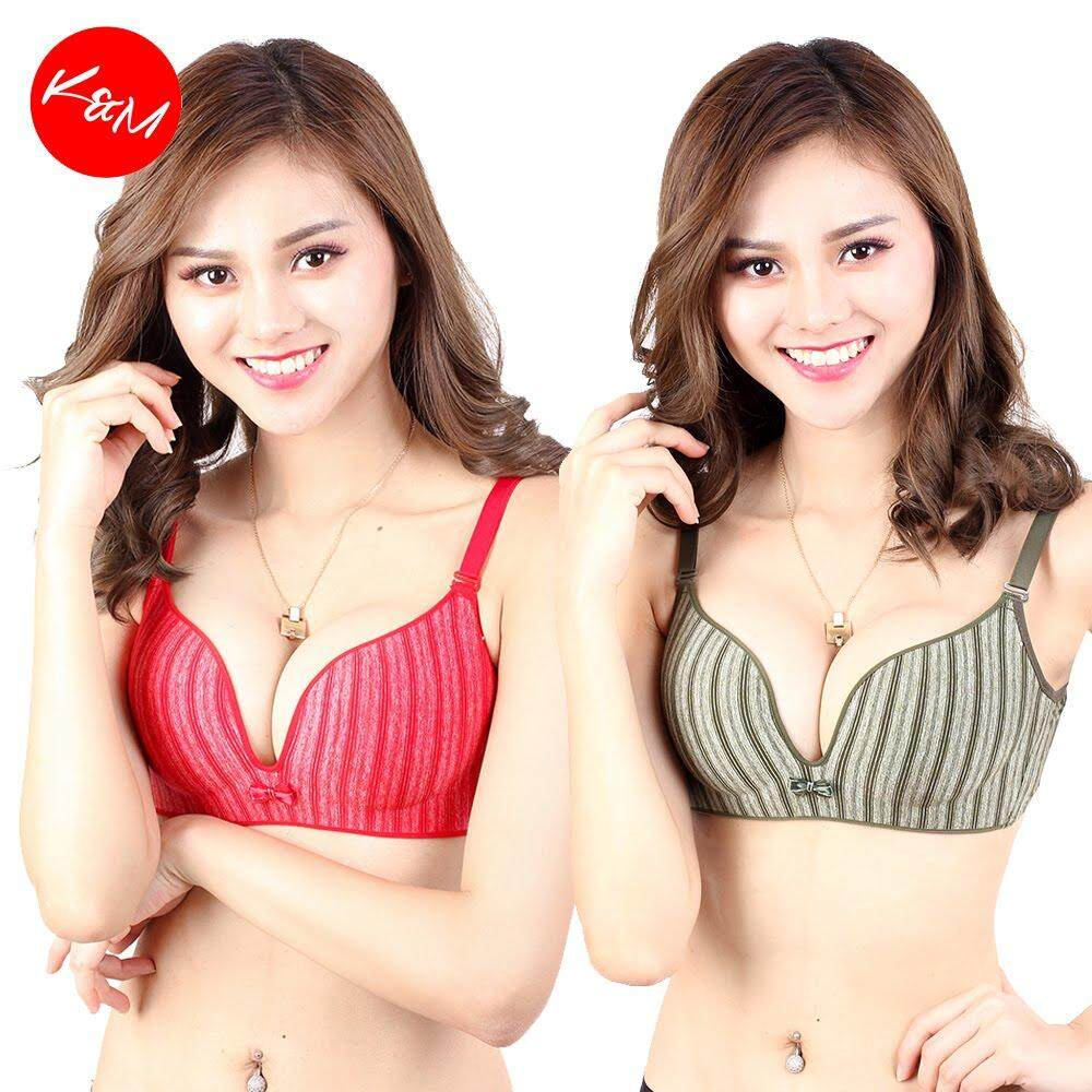 KM Self Pattern Full Cup Bra [M13342]