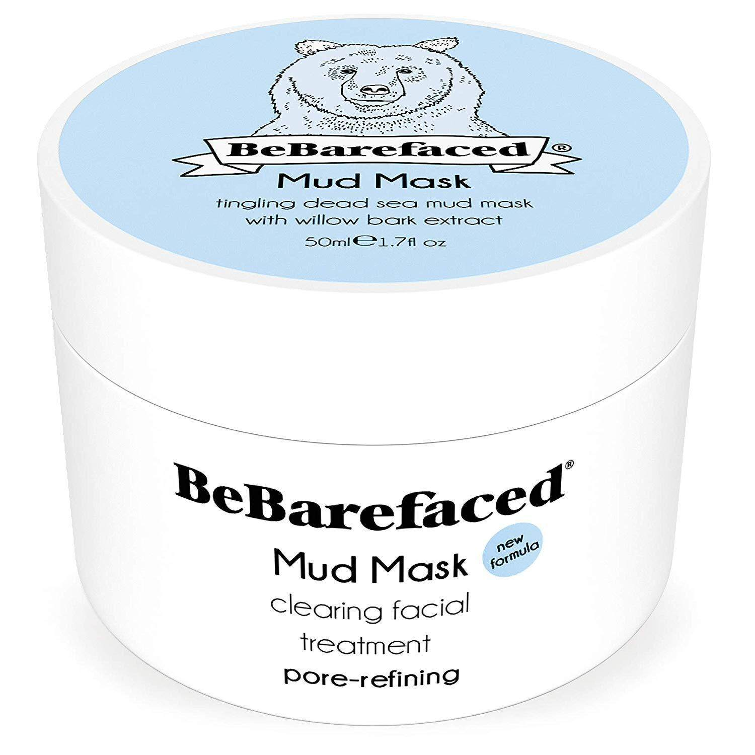 BeBarefaced Pore Refining Salicylic Blackhead and Acne Treatment Face Mask - Mud and Clay Anti Ageing Facial Mask with Salicylic Acid (BHA) and Willow Bark