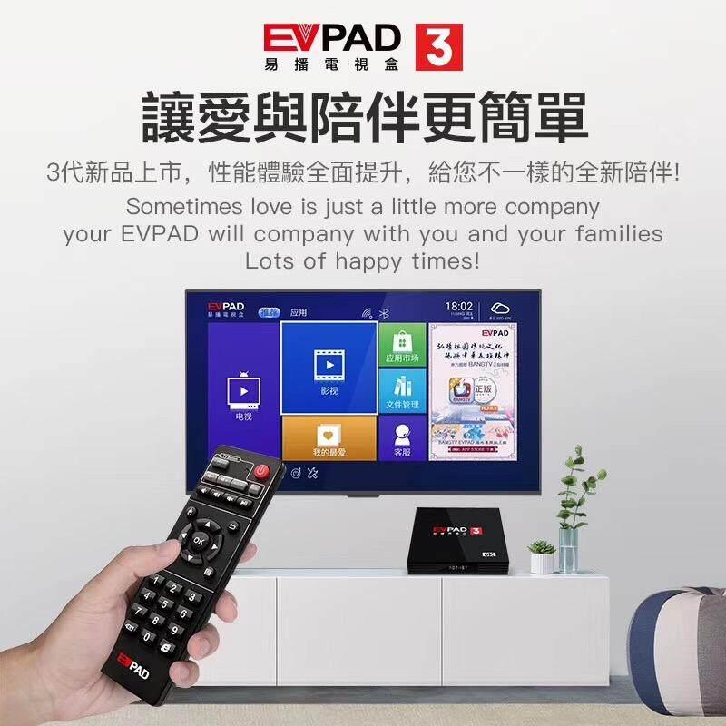 EVPAD 3 Tv Box 2GB RAM + 16GB ROM