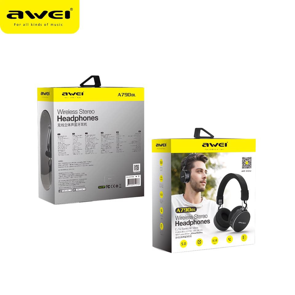 AWEI A790BL Wireless Bluetooth Stereo Headphones Headset V5.0 | Lazada