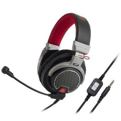 Audio Technica ATH-PDG1 Premium Over-ear Gaming Headset 40mm Drivers Headphones with Open Air Design Boom Microphone In-line Controls