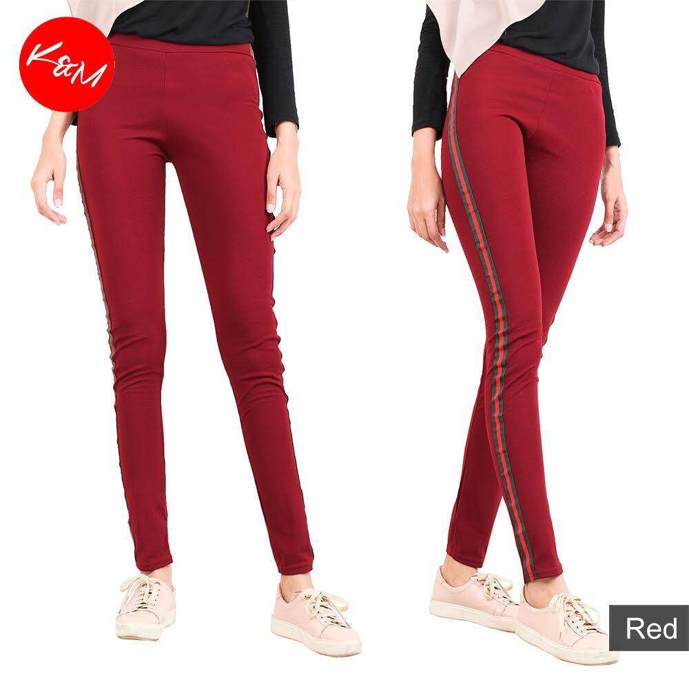KM Women Slim Fit Elastic Pants [M13969]