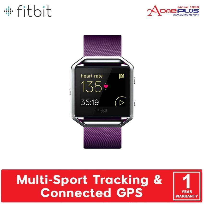 Fitbit Blaze Smart Fitness Watch FB502 Black Silver/ Blue Silver/ Plum Silver - (Small / Large)