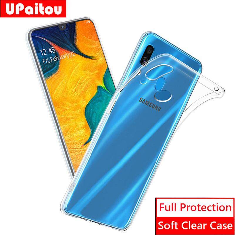 Detail Gambar Upaitou untuk Samsung Galaxy A30 Lembut TPU Case Transparan Jernih Slim Antiselip Case Cover Pelindung Bagian Belakang Shockproof untuk Galaxy ...