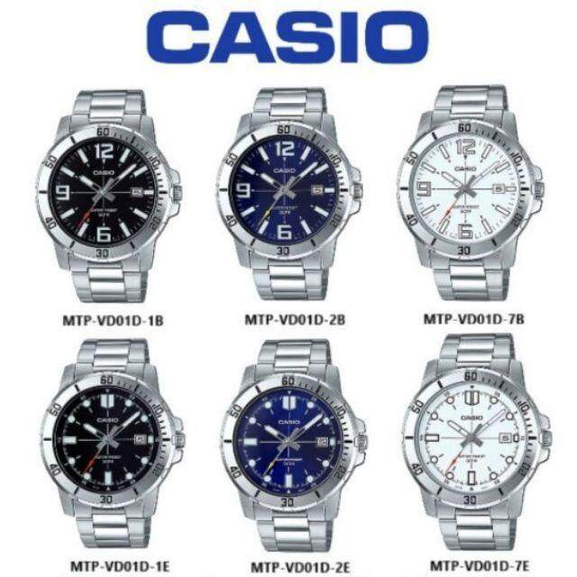 (2 YEARS WARRANTY) Casio Original MTP-VD01D Series Dress Analog-Gent's Watch
