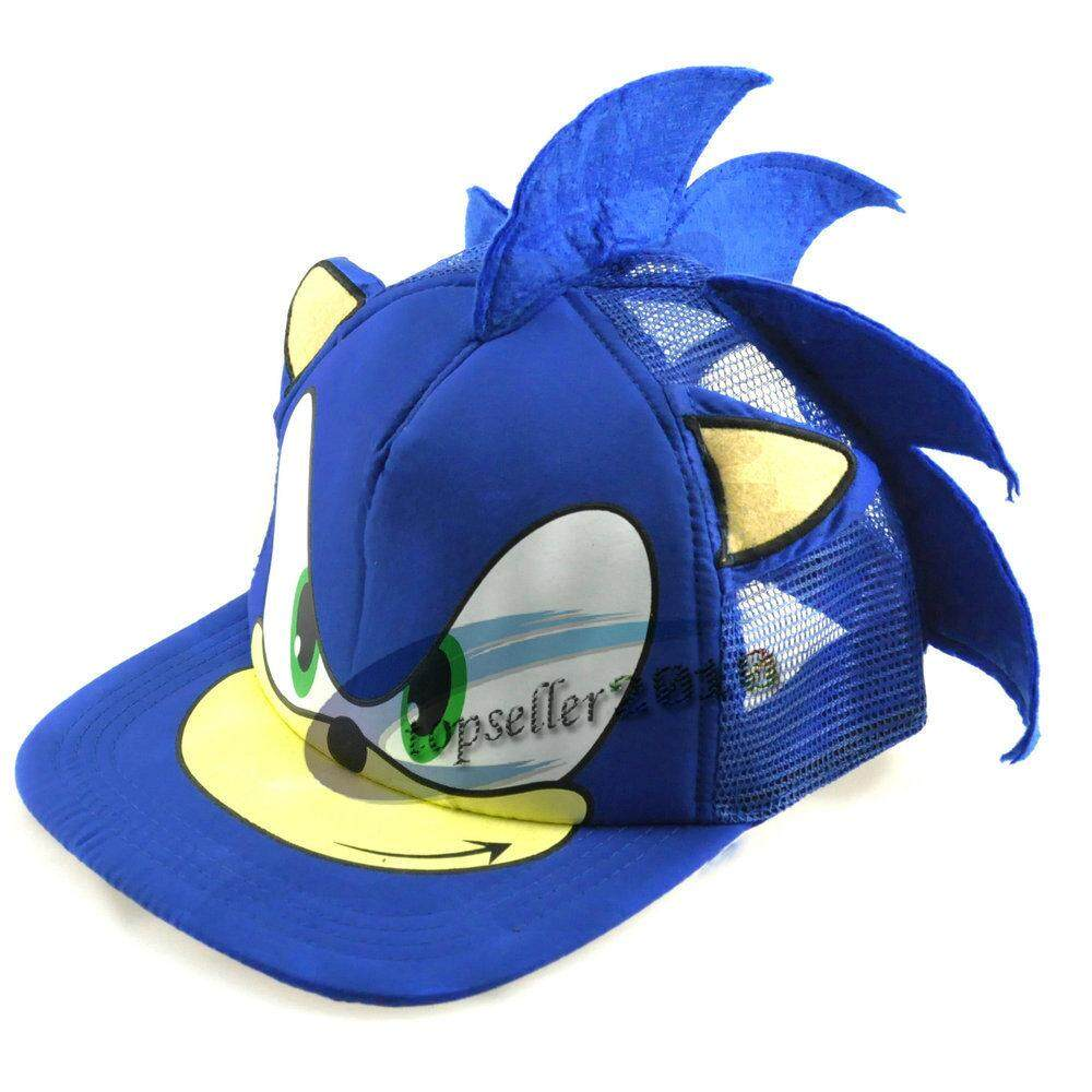 Able Cute Boy Sonic The Hedgehog Cartoon Youth Adjustable Baseball Hat Cap Blue For Boys Hot Selling Customers First Damenmode