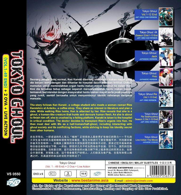 3 KI Tokyo Ghoul t Tokyo ghoul Tokyo and Anime