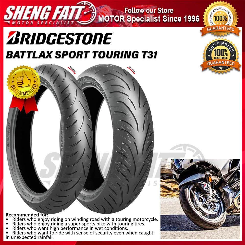 BRIDGESTONE BATTLAX SPORT TOURING T31 MOTORCYCLE TYRE (SPORT TOURING) : 120/70 ZR17 - 190/55 ZR17