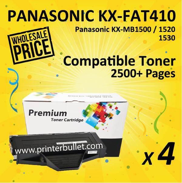 4 unit KX-FAT410 Black Compatible Toner Cartridge For KX-MB1500/1520/1530 Printer Toner