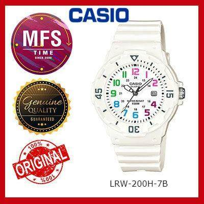 2 YEARS WARRANTY) CASIO ORIGINAL LRW-200H-7B SERIES STUDENT & KID'S WATCH