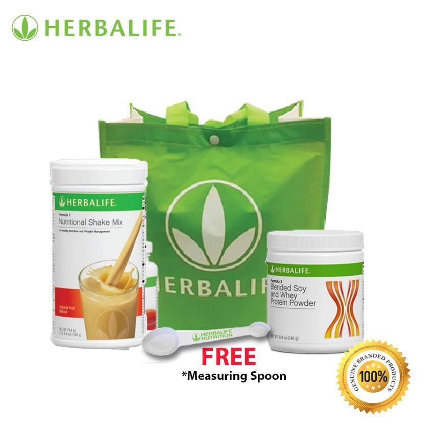 Herbalife Start Now Pack F1 (Tropical Fruit) + F3 Protein + Tea Mix (Original Flavor 100g) [FOC Spoon]