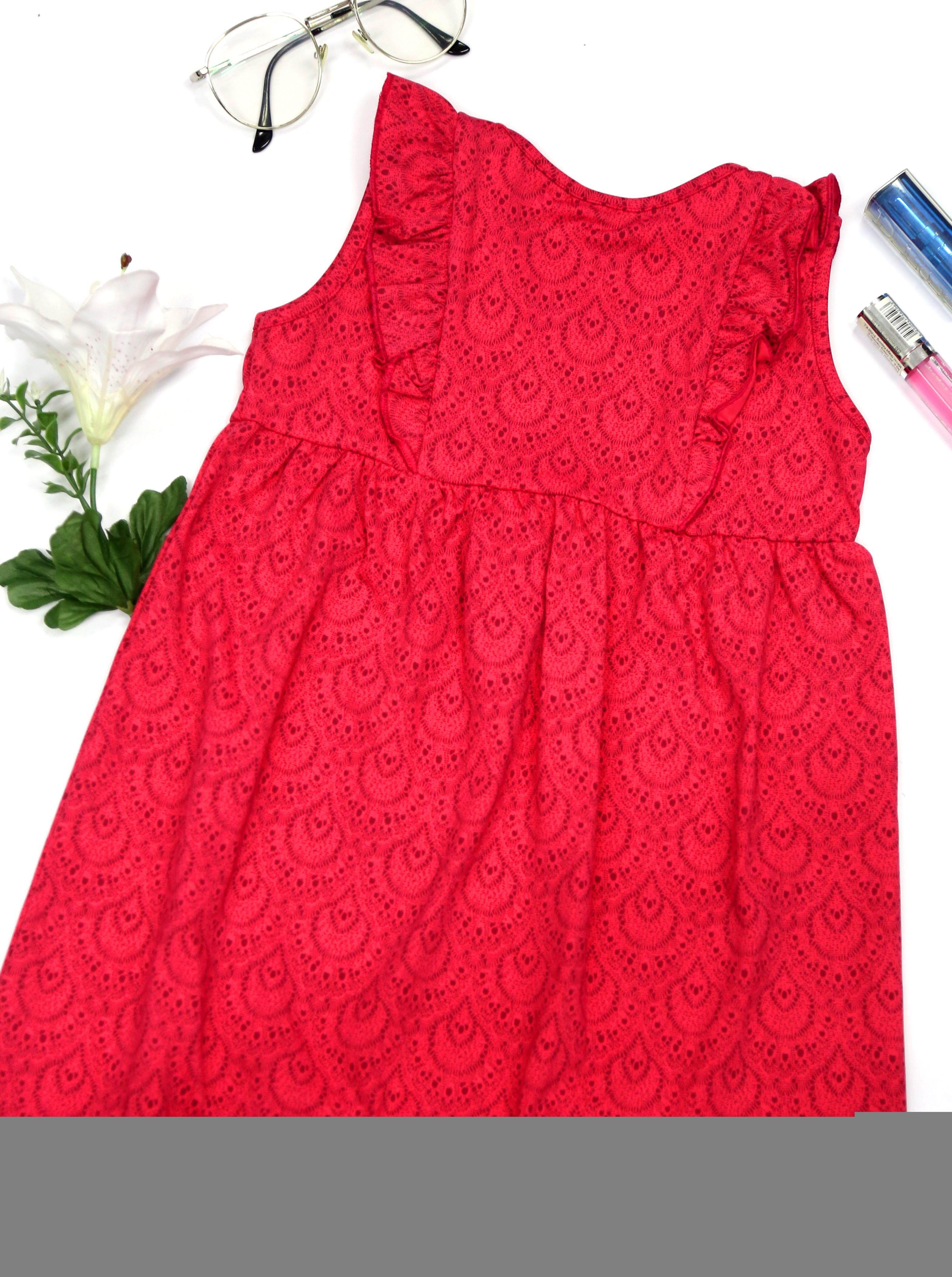 Supersun Toddler Girl Sleeveless Dress Ruffles Summer Fashion Clothes GD-30 Pink