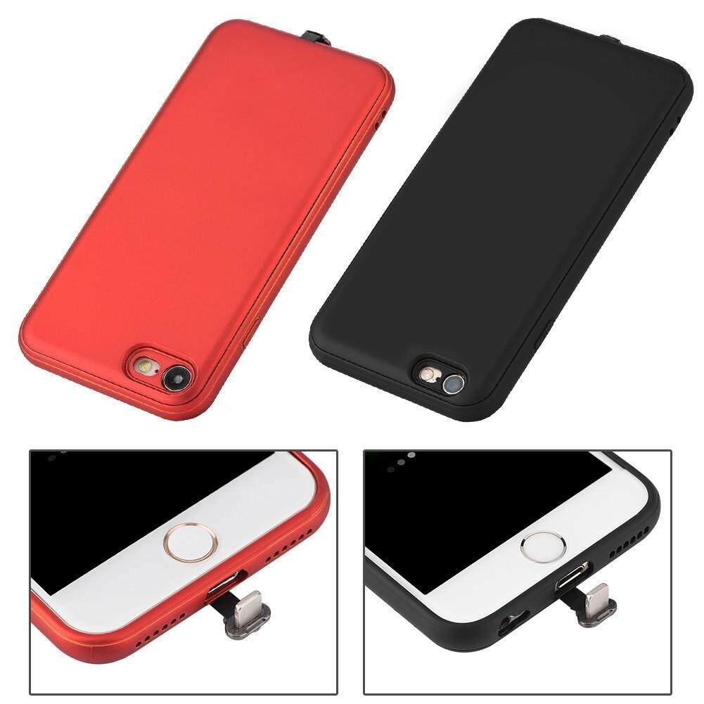 Screen Protectors - Receiver Case Wireless Charger Charging Receiver Case - [BLACK / RED]