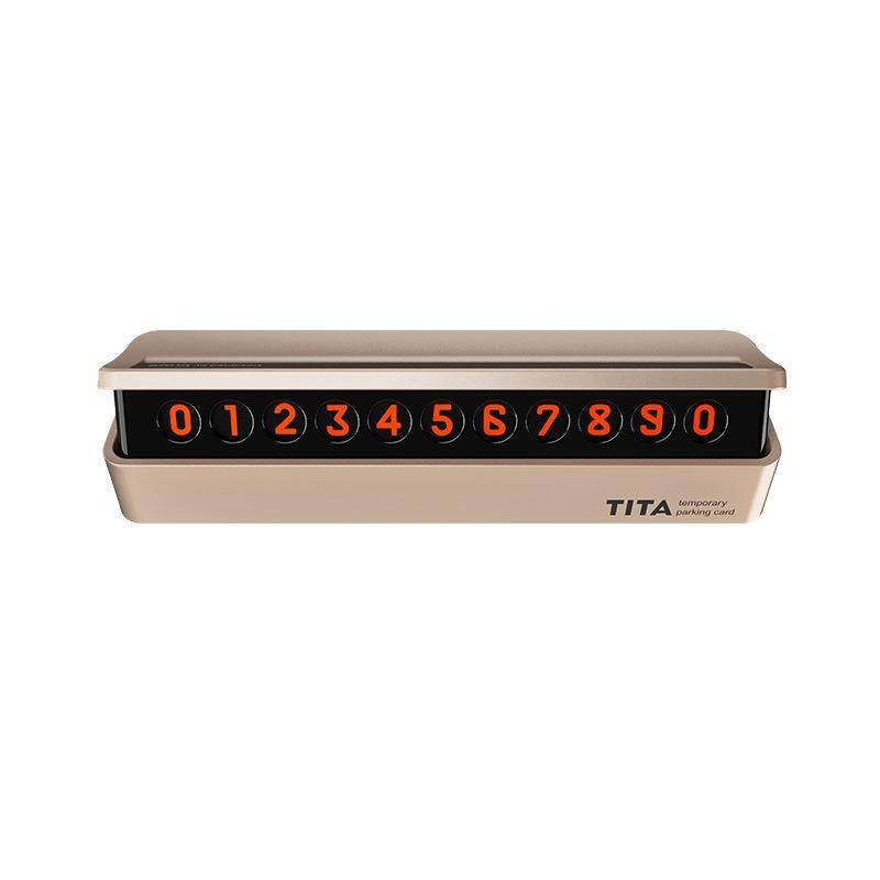 Glow In The Dark Temporary Parking Phone Number Plate-Glow