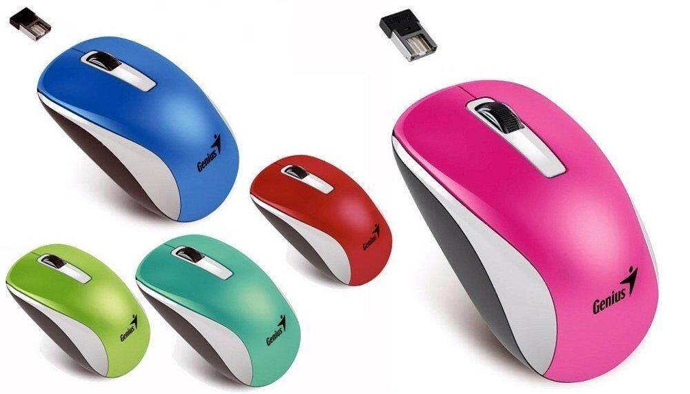 Genius NX-7010 Wireless 2.4GHz Stylish Color Mouse 1600DPI for Home and Office Use (5 Color Options)
