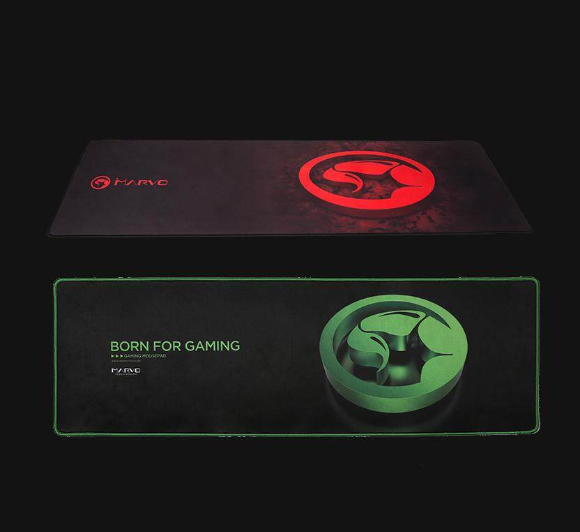 Marvo Scorpion G13 Gaming Mousepad Microfiber Cloth Mouse Surface (Long Large Pad Size : 920 x 294 x 4 mm, Red / Green Version)