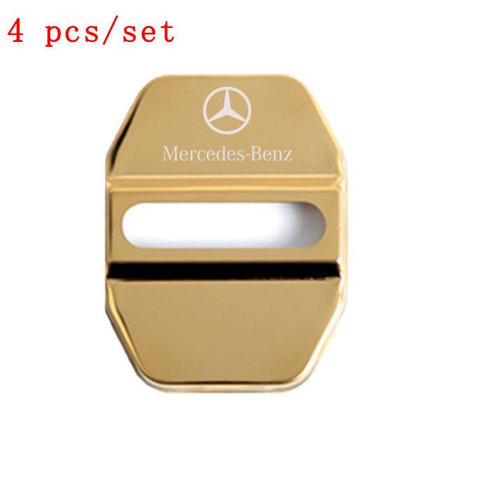 4 Cái Cho Mercedes Benz Amg Xe Cửa Thép Không Gỉ Khóa Nắp Phụ Kiện Tự Động Thích Hợp Cho A C CLA E GLA GLC GG S B CLS Class E260 E300 E320 E350 Glc200 Glc260 Glc300 Glenn 320 S300
