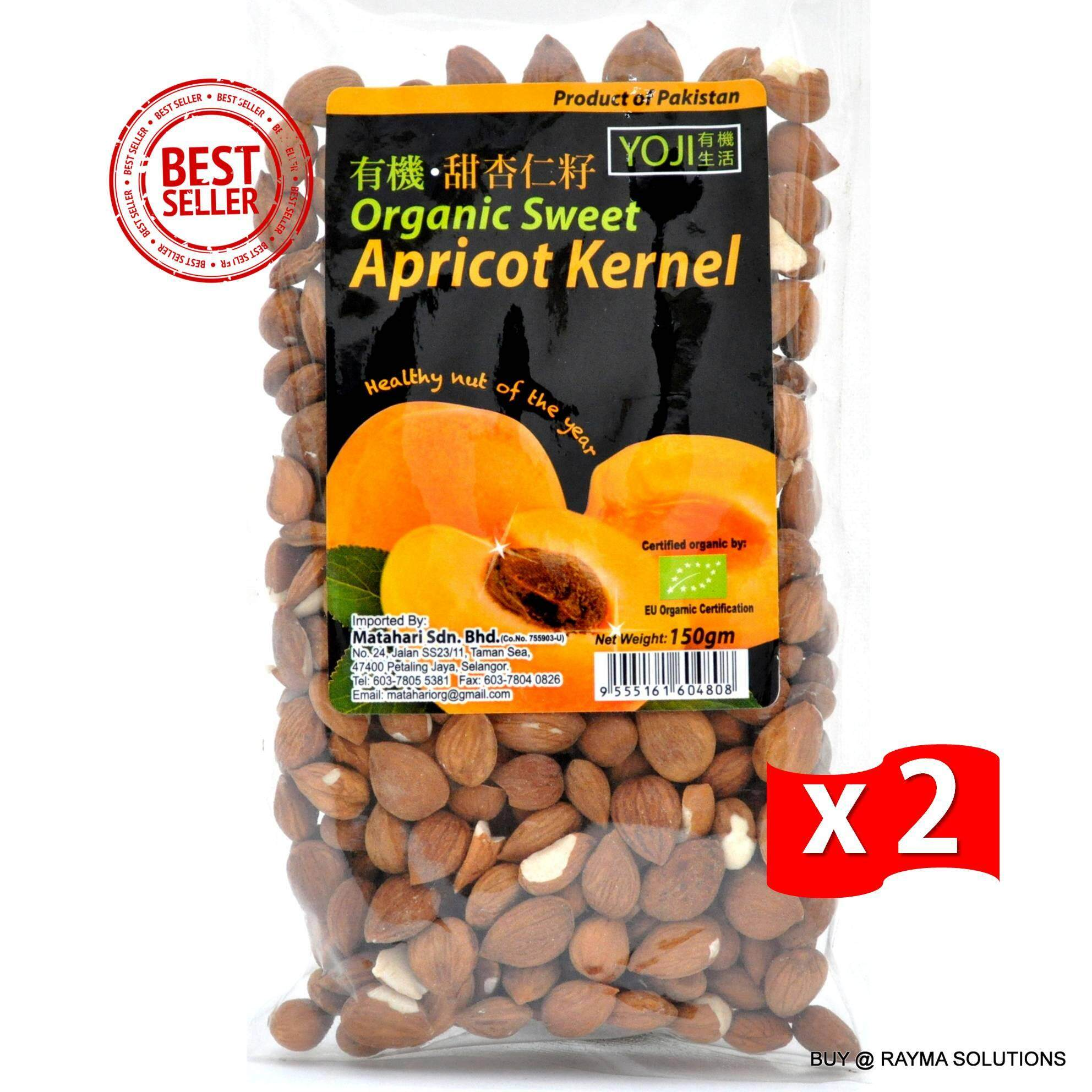 MH FOOD Organic Sweet Apricot Kernel 150g (Twin Pack)